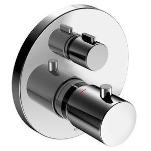 Einhebelmischer für Badewanne / einbaufähig / verchromtes Metall / thermostatisch