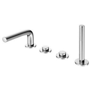 Mischbatterie für Badewanne / freistehend / verchromtes Metall / Badezimmer