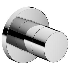 Absperrventil für Duschen / wandmontiert / verchromtes Metall / für Badezimmer