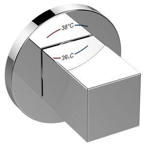 Einhebelmischer für Waschtisch / wandmontiert / verchromtes Metall / thermostatisch