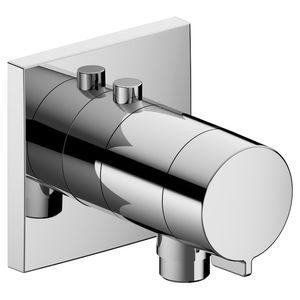 Einhebelmischer für Duschen / wandmontiert / verchromtes Metall / thermostatisch