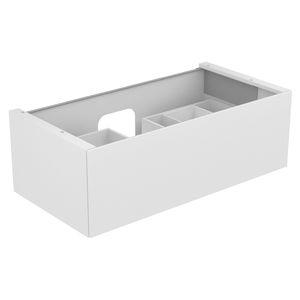 hängender Waschtisch-Unterschrank / Holz / Keramik / modern
