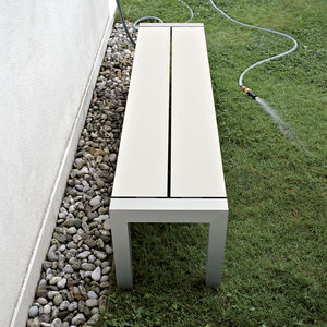 Gartenbank / modern / Aluminium / Laminat