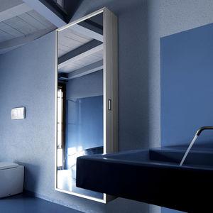 moderner Eingangsbereich / wandmontiert / Metall / mit Spiegel