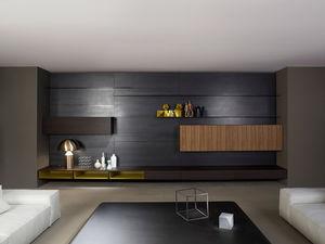 moderne Wohnwand / Holz / von Piero Lissoni