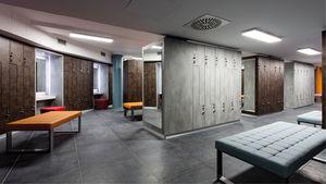 Melamin-Garderobenschrank / für öffentliche Einrichtungen / für Sportanlagen / für Wellnesscenter