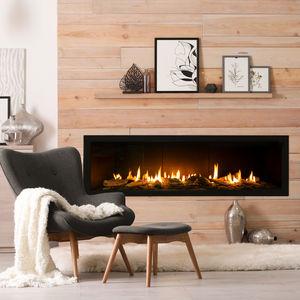 Gaskamin / modern / geschlossene Feuerstelle / Einbau
