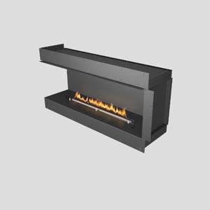 Bioethanol-Kamin / modern / geschlossene Feuerstelle / Ecken