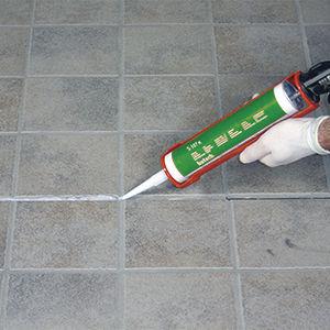elastische Dichtungsmasse / auf Silikonharz Basis / Befestigung / für Fußböden