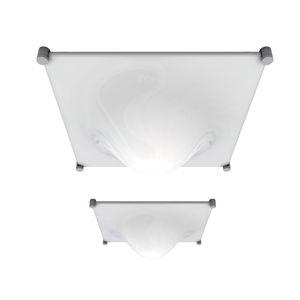 Deckenleuchte / originelles Design / quadratisch / anodisiertes Aluminium / aus Methacrylat