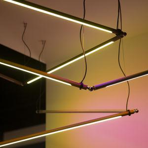 Hängeleuchte / LED / linear / anodisiertes Aluminium