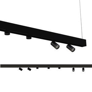 LED-Schienenleuchte / rund / Stahl / gestrichenes Aluminium