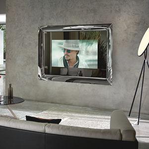 wandmontierter TV-Spiegel