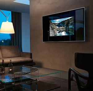 wandmontierter TV-Spiegel / modern / rechteckig / Aluminium