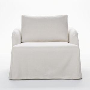 moderner Sessel / Stoff / Leder / mit abziehbarem Bezug