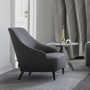 moderner Sessel / Samt / Baumwolle / Leinen