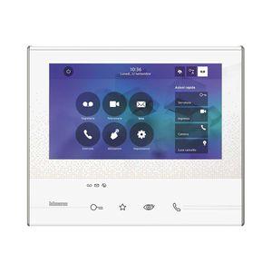 Video-Türsprechanlage / Freisprecheinrichtungen / Touchscreen / mit Kamera / weiß