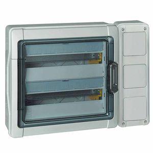 wandmontierter Verteilerkasten / Industrie / voll ausgestattet / mit Tür