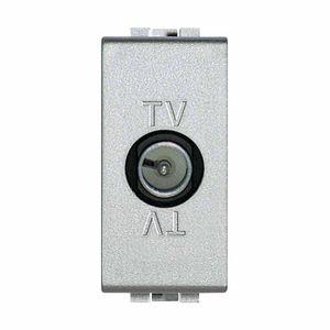 Antennensteckdose / wandmontiert / Metall / modern