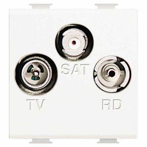 Antennensteckdose / SAT / für -RD / 3-Fach