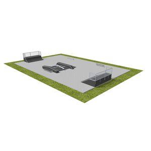Holz-Skatepark / modulierbarer
