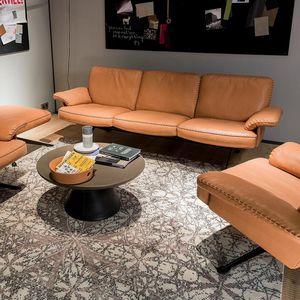 modernes Sofa / Leder / 2 Plätze / 3 Plätze