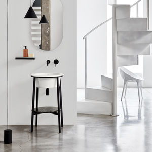 freistehender Waschtisch-Unterschrank / Keramik / Marmor / Design