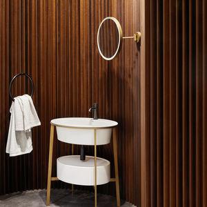 wandmontierter Spiegel für Badezimmer / LED beleuchtet / Kipp / modern