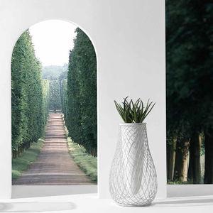 moderne Vase / Glas / Stahl / von Jean-Marie Massaud