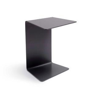 moderner Beistelltisch / Blech / rechteckig / quadratisch