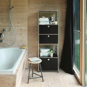 modernes Regal / lackiertes MDF / Badezimmer