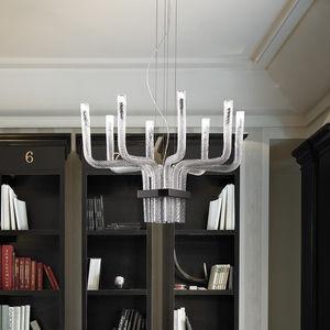 Lüster / originelles Design / Kristall / geblasenes Glas / Metall