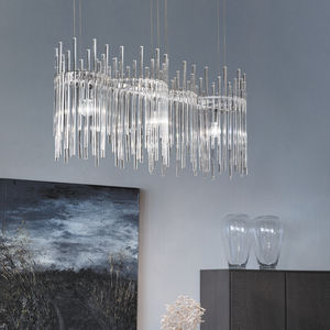 Lüster / originelles Design / Glas / Metall / LED