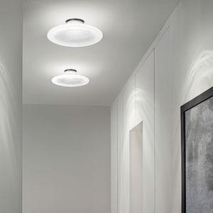 moderne Deckenleuchte / rund / Glas / LED