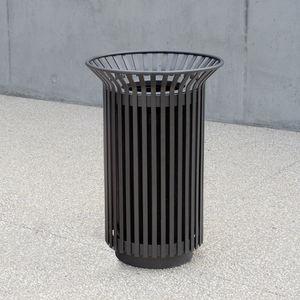 Park-Abfallbehälter / wandmontiert / Edelstahl / modern