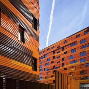 profiliertes Blech / galvanisierter Stahl / für Fassadenverkleidung / für Wände