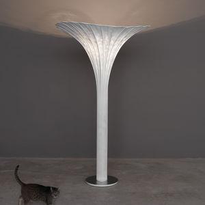 Stehleuchte / originelles Design / aus Edelstahlgewebe / Glühlampen