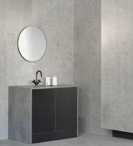 freistehender Waschtisch-Unterschrank / aus Dekton® / modern / mit Spiegel