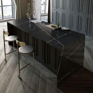 Silestone®-Arbeitsplatte / für Küchen / schwarz