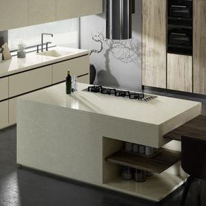 Silestone®-Arbeitsplatte / für Küchen / beige