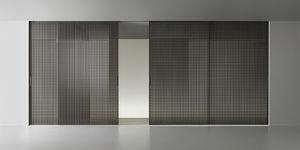 Tür für Innenbereich / Schiebe / Glas / verglast