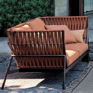 Außenbereich-Sofa / modern / Aluminium / gestrichenes Metall
