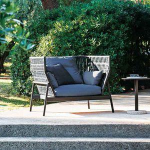 Gartensessel / modern / gestrichenes Aluminium / Polyester