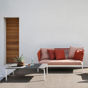 modernes Sofa / Außenbereich / Stoff / Edelstahl