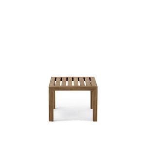 moderner Couchtisch / aus Teakholz / quadratisch / Innenraum