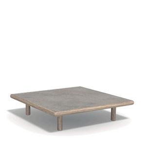 moderner Couchtisch / Holz / Marmor / Naturstein