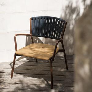 Gartensessel / modern / Textil / aus Teakholz