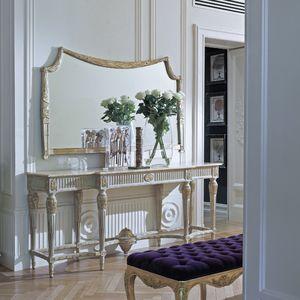 wandmontierter Spiegel / klassisch / Holz