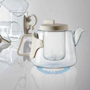 Porzellan-Teekanne / aus Borosilikatglas