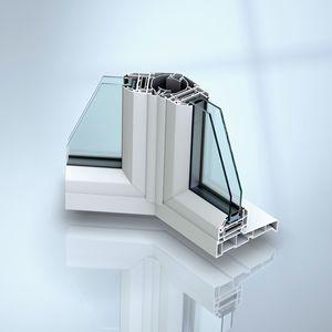 Flügelfenster / Fall / Stahl / PVC